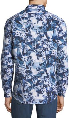 1 Like No Other Classic-Fit Kaleidoscope-Print Sport Shirt
