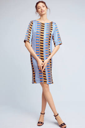Seen Worn Kept Geo Crepe T-Shirt Dress $158 thestylecure.com