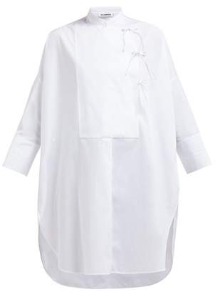 Jil Sander Giovanna Oversized Cotton Poplin Tunic - Womens - White