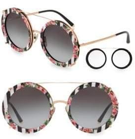 Dolce & Gabbana 63MM Round Sunglasses