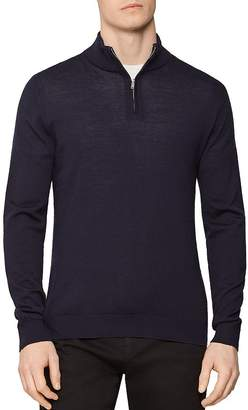Reiss Blackhall Merino Wool Half-Zip Sweater