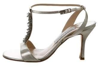 28e81b027 Jimmy Choo Silver Ankle Strap Sandals For Women - ShopStyle Australia