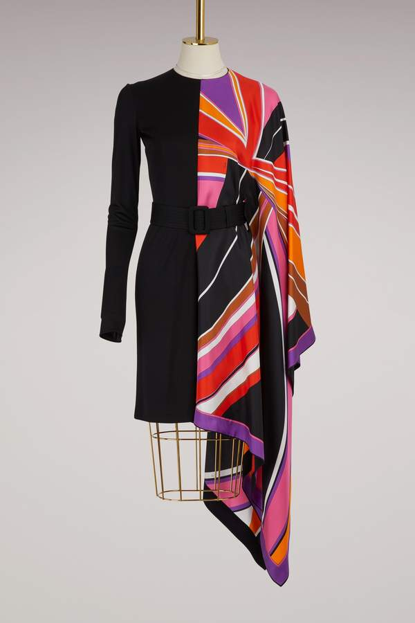 Emilio Pucci Asymmetric silk dress