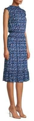 MICHAEL Michael Kors Paisley Blouson Flare Dress
