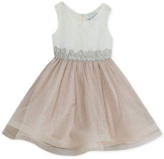 Rare Editions Toddler Girls Embellished Waist Party Dress