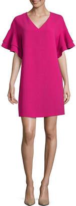 WORTHINGTON Worthington Tiered Ruffle Sleeve Dress - Tall
