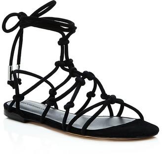 Rebecca Minkoff Elyssa Suede Lace Up Gladiator Sandals $125 thestylecure.com