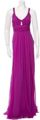 Alberta Ferretti Draped Silk Dress