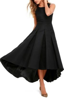 Women's Lulus Cutout Back Tea Length High/low Dress $82 thestylecure.com