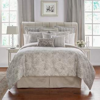 Waterford Sophia Floral Jacquard Comforter Set, Queen