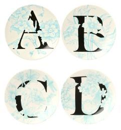 Busy Forest Monogram Plates