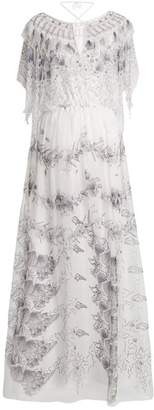 Zandra Rhodes Archive Ii The 1973 Seashell Star Gown - Womens - Cream Multi
