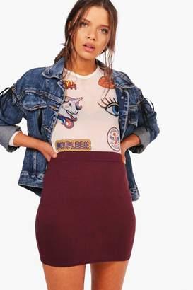 boohoo Basic Jersey Micro Mini Skirt