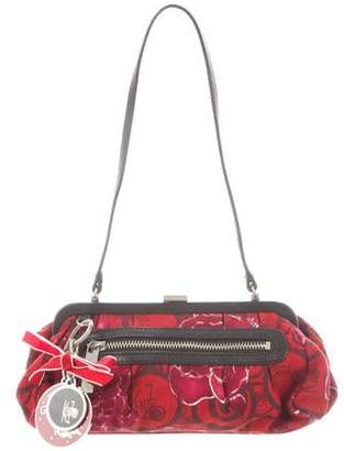 Kenzo Leather-Trimmed Printed Bag