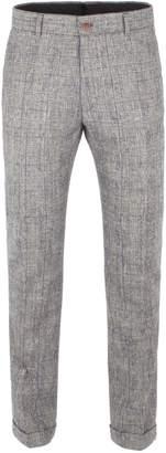 Gibson Men's Silver Grey Check Trouser