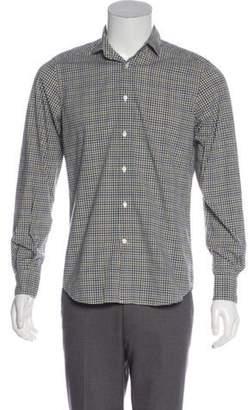 Boglioli Gingham Button-Up Shirt brown Gingham Button-Up Shirt