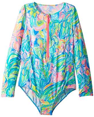 Lilly Pulitzer UPF 50+ Alaina Swimsuit Girl's Swimsuits One Piece
