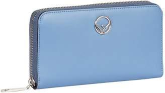 Fendi Logo Zip Around Wallet