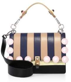 Fendi Kan I Stripe Leather Shoulder Bag