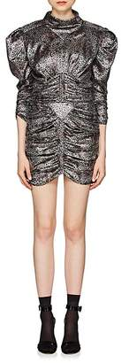 Isabel Marant Women's Pandor Geometric-Pattern Silk-Blend Lamé Ruched Minidress