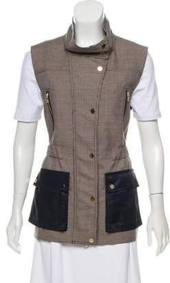 Veronica Beard Wool Houndstooth Vest