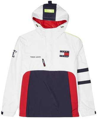 Tommy Jeans Colour-block Hooded Shell Jacket