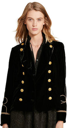 Ralph Lauren Denim & Supply Velvet Double-Breasted Jacket $245 thestylecure.com