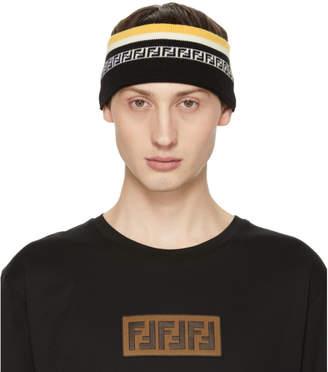 Fendi Black and Yellow Forever Headband