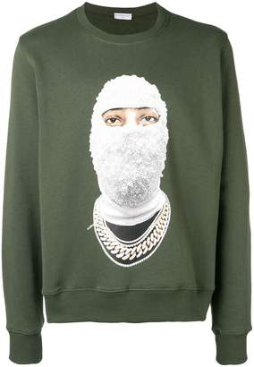 Ih Nom Uh Nit face print sweatshirt
