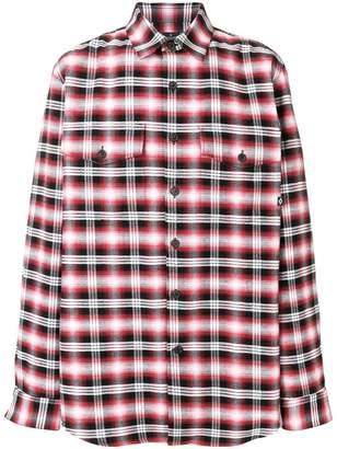 Marcelo Burlon County of Milan Dog plaid shirt