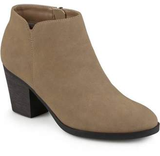 Co Brinley Women's High Heeled Round Toe Chunky Heel Ankle Booties