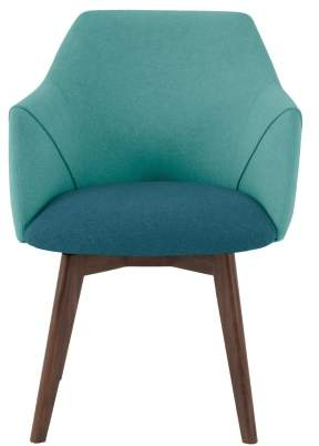 Lule Office Chair, Mineral Blue and Emerald Green