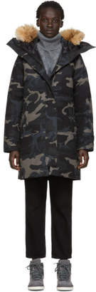 Canada Goose Black Black Label Down Camo Shelburne Parka
