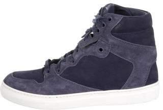 Balenciaga Textured Leather High-Top Sneakers