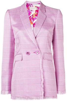Emilio Pucci plaid double breasted blazer