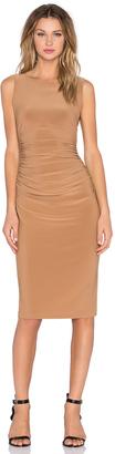 Norma Kamali Shirred Bodycon Dress