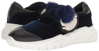 Love Moschino Velvet Doll Ballerina Sneaker Women's Slip on Shoes