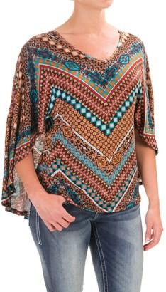 Wrangler Knit V-Neck Kimono Shirt - Short Sleeve (For Women) $16.99 thestylecure.com