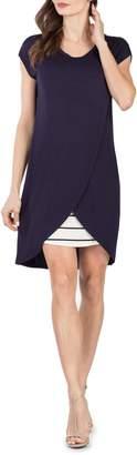 Savi Mom Lille Layered Maternity/Nursing Sheath Dress
