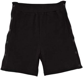 Stella McCartney Cotton Sweat Shorts W/ Side Snap Buttons