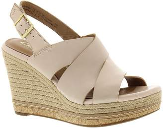 Clarks Amelia Dally Women's Casual Strappy Leather Wedge