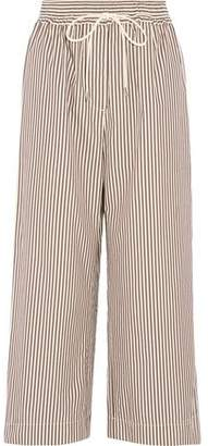 3.1 Phillip Lim Striped Cotton And Silk-Blend Wide Legs Pants