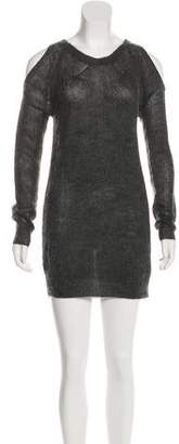 AllSaints Knit Long Sleeve Mini Dress