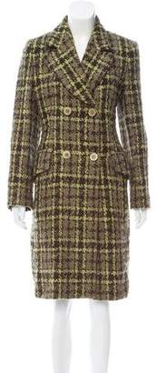Les Copains Double-Breasted Tweed Coat