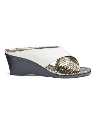 Lotus Leather Wedge Sandals E Fit