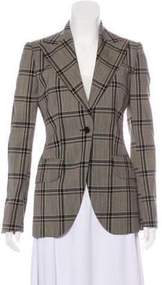 Dolce & Gabbana Plaid Structured Blazer