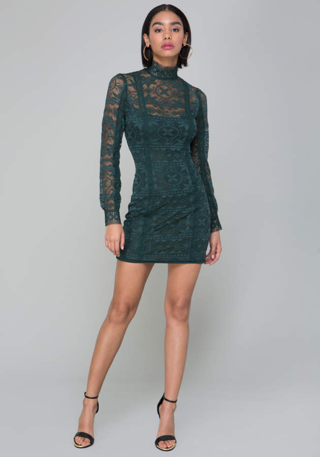 Molly Lace High Neck Dress