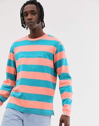 Billionaire Boys Club stripe sweater in orange