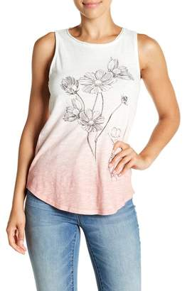 Lucky Brand Flowers Ombre Tank