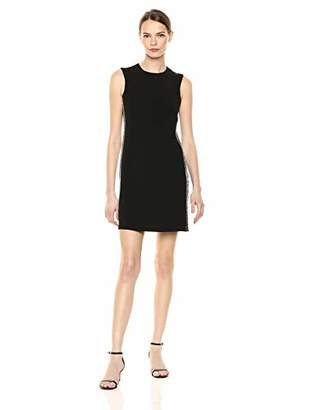 Calvin Klein Women's Sleeveless Dress with Embellished Side Seams